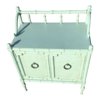 Vintage Chinoiserie Aqua Cabinet