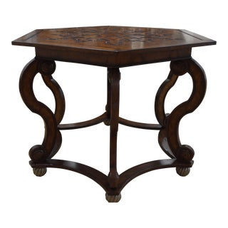 Otagonal S-Scroll Center Table