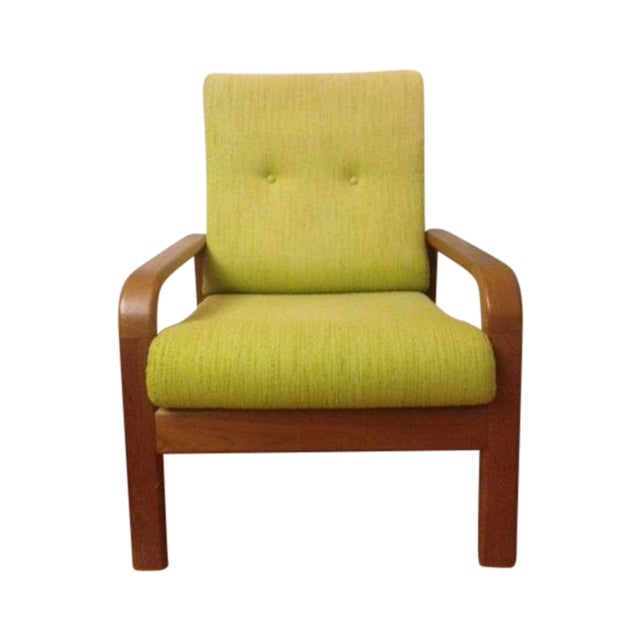 Chartreuse Danish Modern Chair - Image 1 of 3