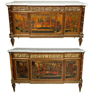 Compatible French Chinoiserie Commodes - A Pair