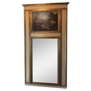 French Trumeau Gilt Mirror