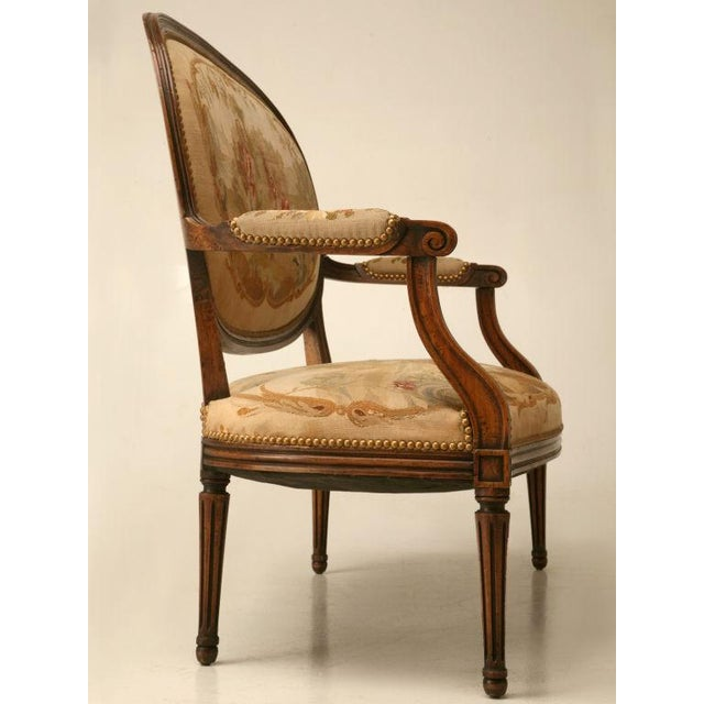 Louis XVI Aubusson Upholstered Settee - Image 10 of 11