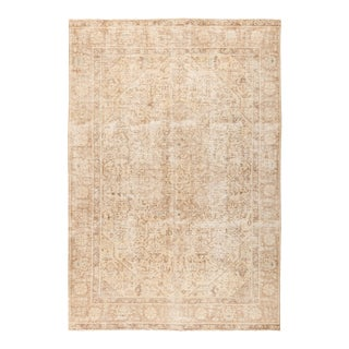 """Vintage Hand Knotted Area Rug - 6' 2"""" X 9' 1"""""""