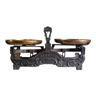 Antique Brazilian Cast Iron Balance Scale