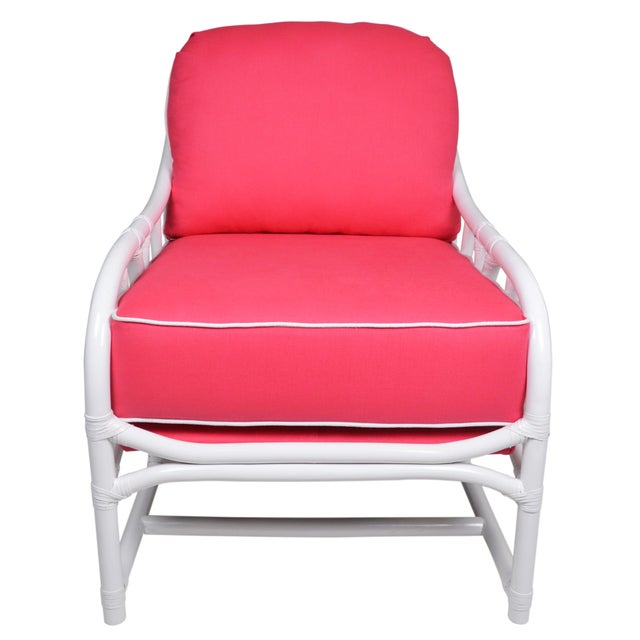 Ficks Reed Lilly White & Pink Chairs - a Pair - Image 2 of 7