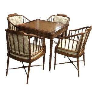 Drexel Game Table & 4 Chairs Set