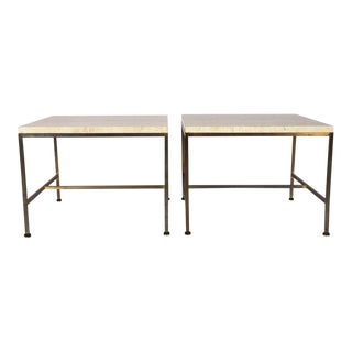 Paul McCobb Travertine Topped Occasional Tables - a Pair