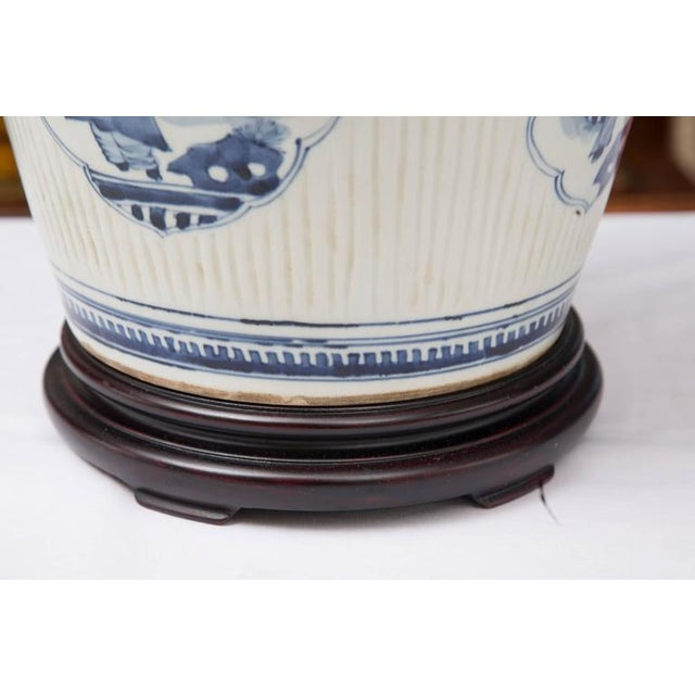 Pair of Chinese Blue and White Lamps - Image 6 of 7