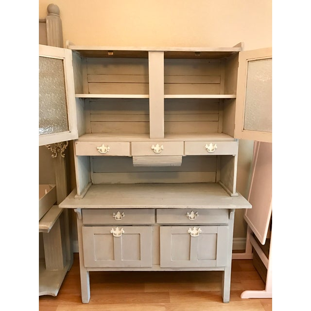 Vintage Gray Painted Hutch - Image 3 of 6