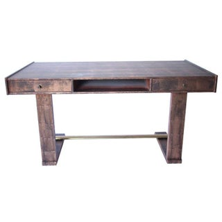 Copper Painated Mid-Century Desk