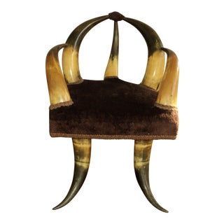 Antique Small Child's Horn Chair