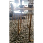 Image of Gold and Glass Vincenzo End Tables - A Pair