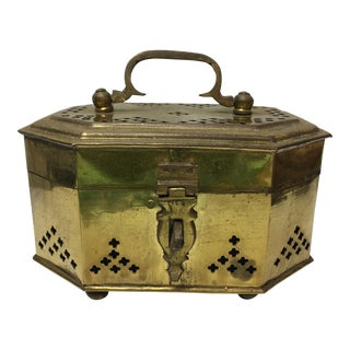 Brass Pierced Trinket Box