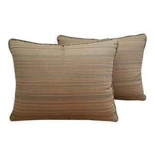 Italian Fortuny Striped Pillows - A Pair
