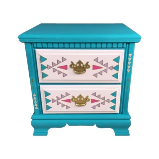 Southwestern Two Drawer Table