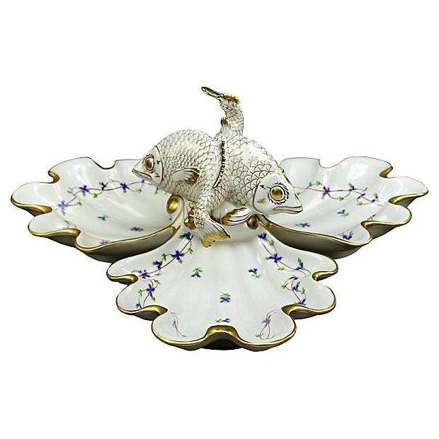 Vintage Herend Porcelain Fish & Shell Serving Tray - Image 1 of 9