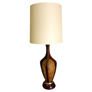 Mid-Centuy Modern Danish Teak & Cork Lamp