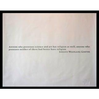 Joseph Kosuth Print Titled Goethe
