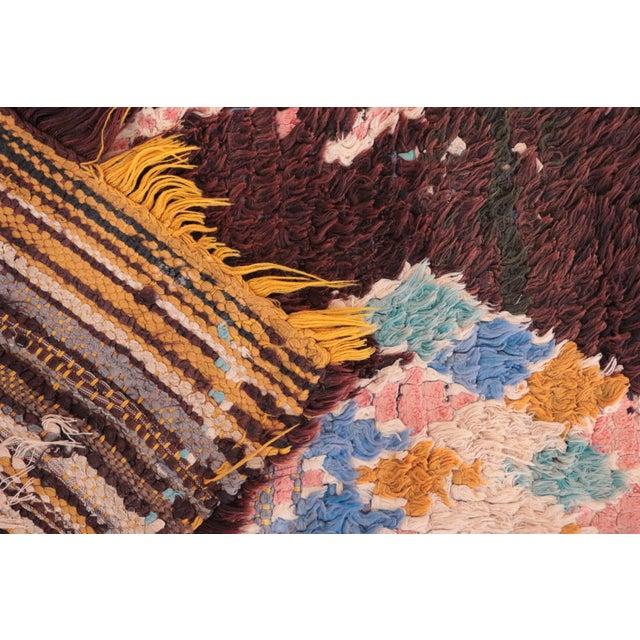 """Vintage Boucherouite Moroccan Runner - 2'6"""" x 9'8"""" - Image 4 of 4"""