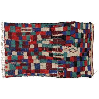Mid-Century Modern Berber Moroccan Rug,