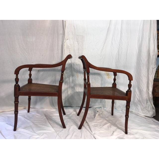 Kindel Regency Style Armchairs - A Pair - Image 4 of 7