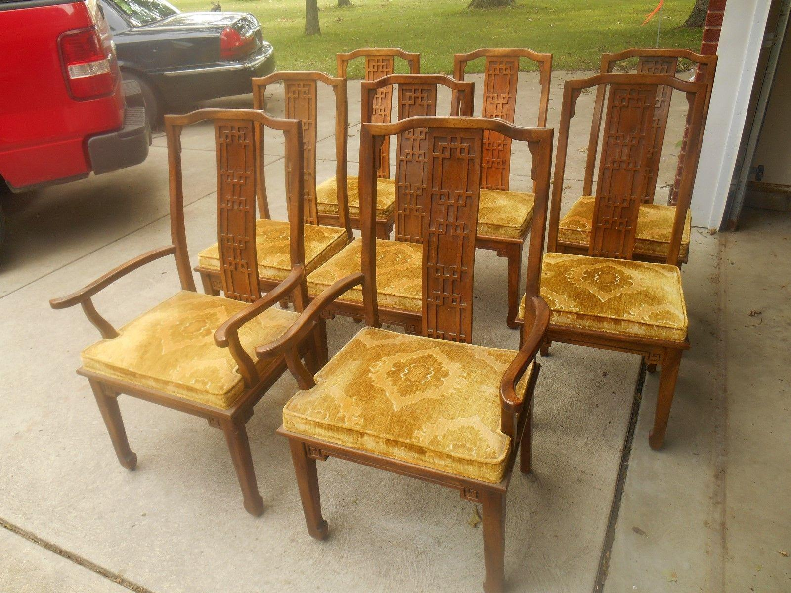 Century Furniture Mid Century Greek Key Dining Chairs   Set Of 8   Image 2