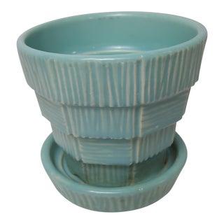 Blue Basketweave McCoy Planter