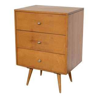 Paul Mccobb Planner Group 3 Drawer Side Table/Nightstand in Solid Maple 1950s