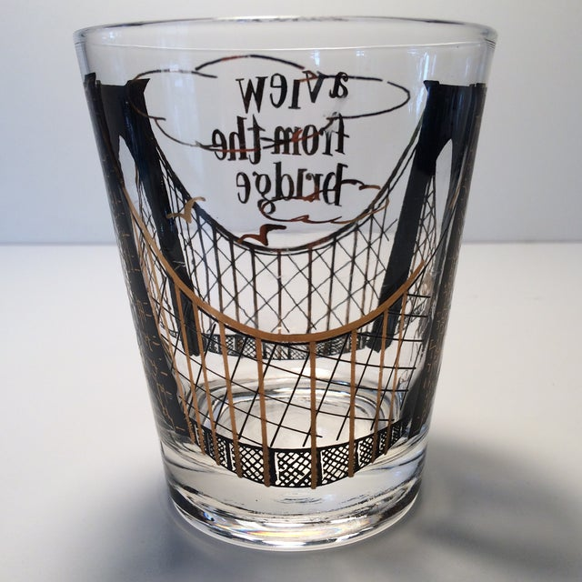 "2 - Hollywood Regency Lo-Ball Glasses ""A View From the Bridge"" - Image 5 of 10"