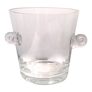 Crystal Tiffany & Co. Swirl Handle Ice Bucket-Signed