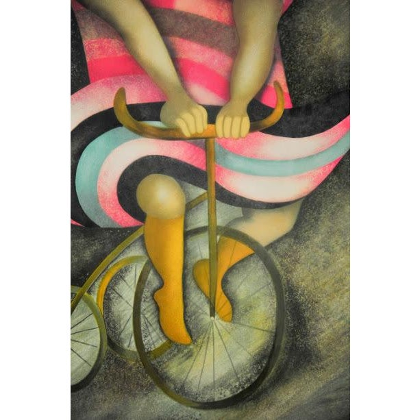 """Limited Lithograph """"Girl on Tricycle"""" by Graciela Rodo Boulanger - Image 5 of 8"""