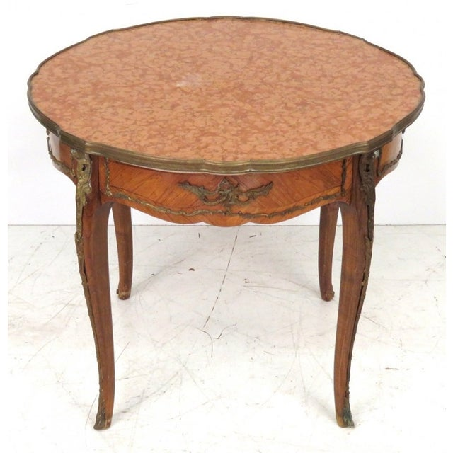 Antique Louis XV Style Bronze Mounted Center Table - Image 2 of 6