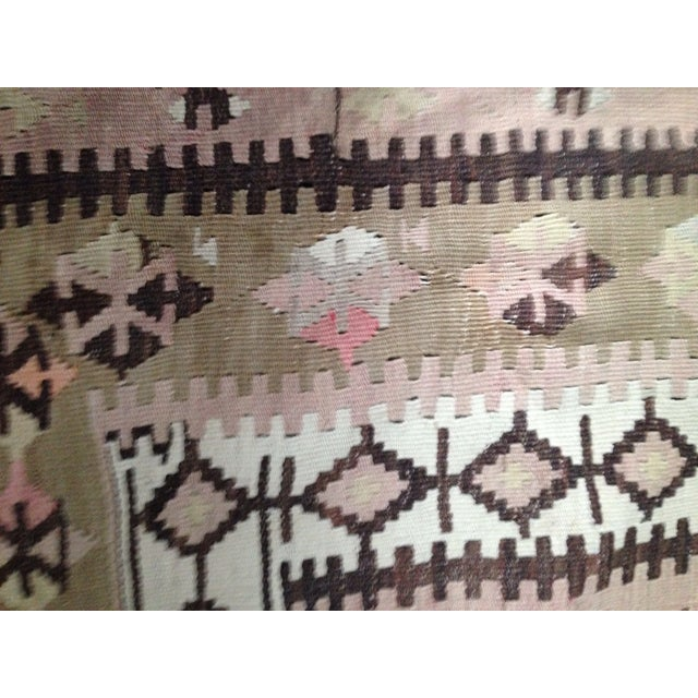 Turkish Kilim Rug - 5′3″ × 8′9″ - Image 6 of 6