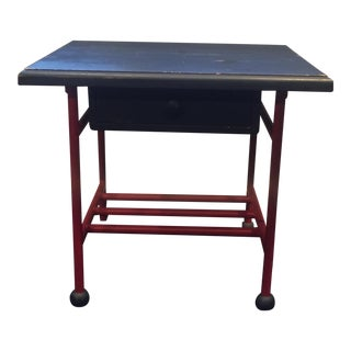 Blue & Red Accent Table