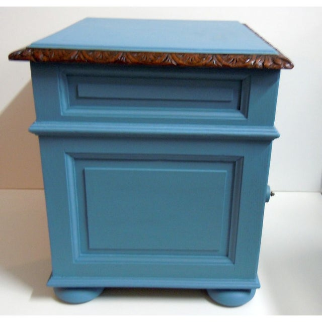 Blue Painted Mid-Century Nightstand - Image 6 of 9