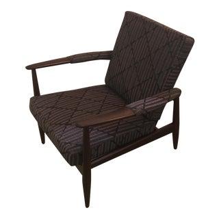 Danish Modern Walnut Lounge Chair