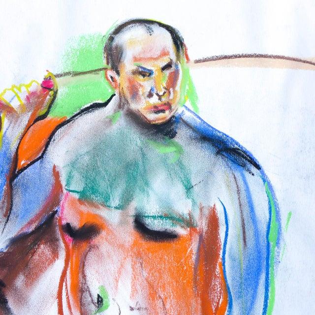 Samurai Nude Pastel Drawing - Image 2 of 3