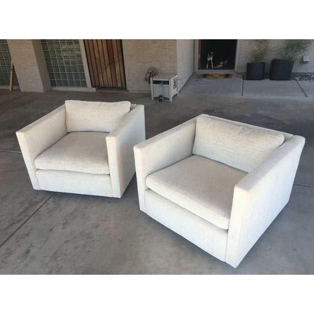 """Knoll Vintage """"Pfister"""" Club Chairs - A Pair - Image 2 of 10"""
