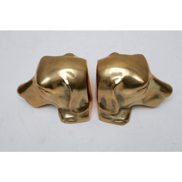 Solid Brass Labrador Bookends - A Pair - Image 6 of 8