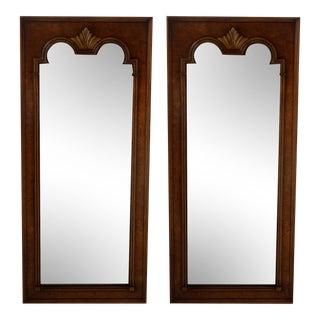 Vintage Walnut Burl Mirror - A Pair