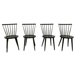 Swedish Windsor Style Dining Chairs - Set of 4