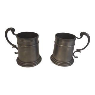 Vintage Pewter Drinking Cups - A Pair