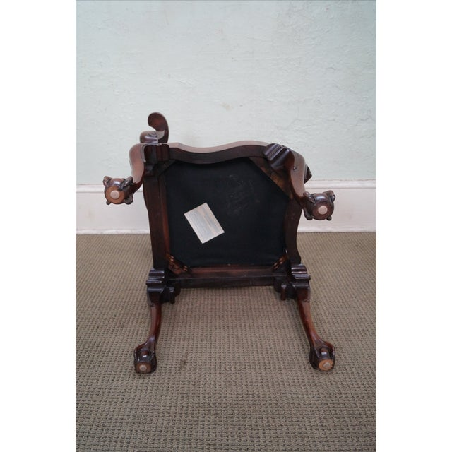 Southwood Chippendale Style Claw Foot Corner Chair - Image 9 of 10