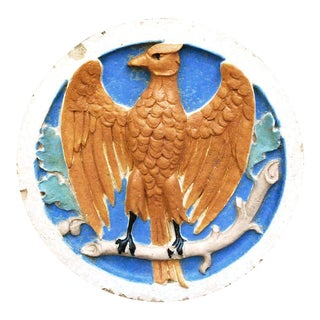 Antique Architectural Salvage Terra Cotta Eagle Sculpture