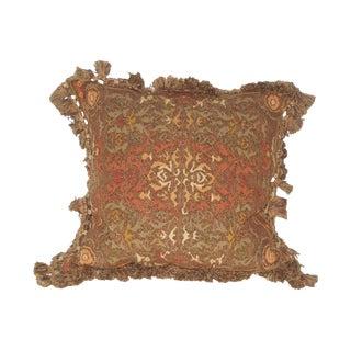 Custom Aubusson & Velvet Pillow