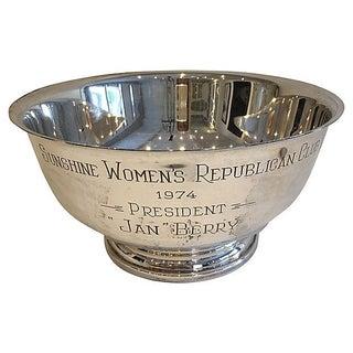 Silver-Plate Prize Bowl