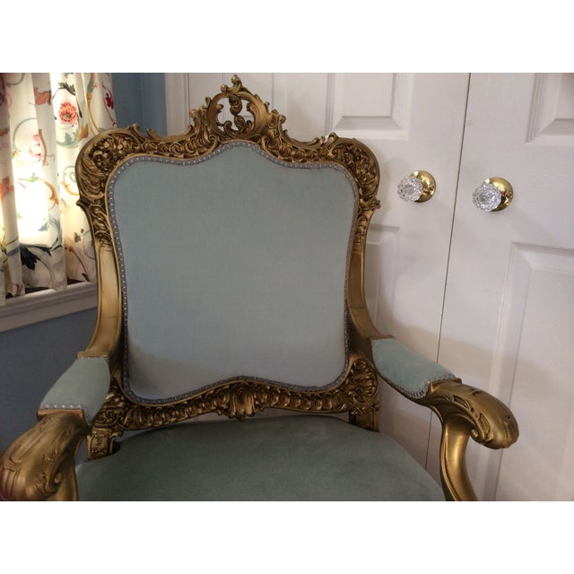 French Baroque Gilt Bergere - Image 4 of 7