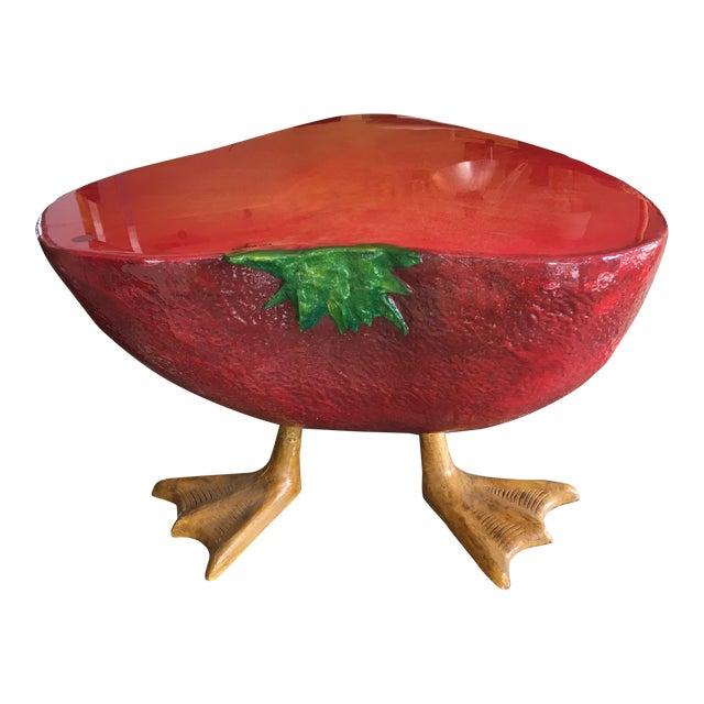 Surrealist Style Strawberry Vintage Coffee Table