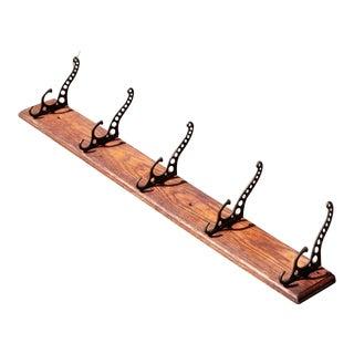 Antique Industrial Cast Iron Coat Hooks