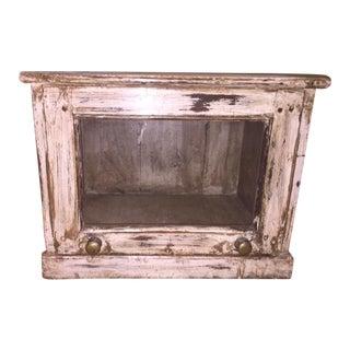 Antique White Glass Cabinet